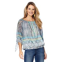 Colleen Lopez Global Getaway Peasant Blouse