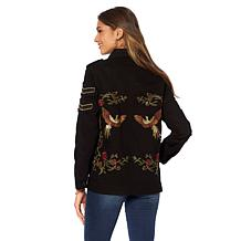 Colleen Lopez Haute Hustle Embroidered Military Jacket