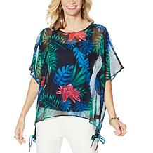 Colleen Lopez Printed Poncho Top