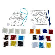 Colorbok Makit Bakit Astronaut & Rocket Deluxe Suncatchers Kit