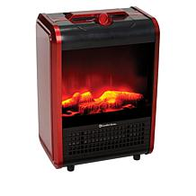 Comfort Zone Mini Ceramic Fireplace with 3D Flame Effect