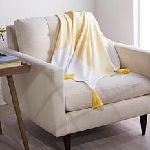Concierge Collection 100% Cotton Woven Throw with Tassels