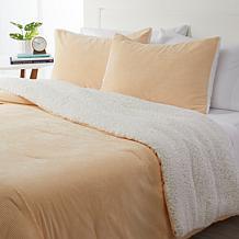 Concierge Collection Corduroy to Sherpa Comforter Set