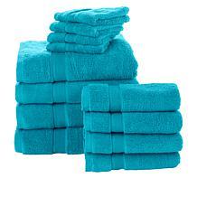 Concierge Collection Zero-Twist 12-piece Towel Set