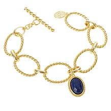 Connie Craig Carroll Jewelry Claire Lapis Twisted Rope Bracelet