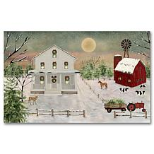 Courtside Market Christmas at the Shore 12x18 Wood Art