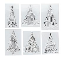 Crafter's Companion 6-Pack Christmas Tree Clear Stamps