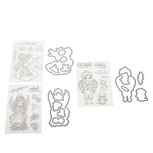 Crafter's Companion Connie Fong Angel Stamps & Dies Set