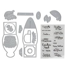 Crafter's Companion Gemini Giftables Love Santa Stamp and Die Set