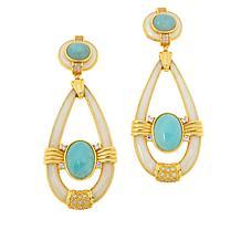 Cristina Sabatini Gold-Tone Horus Multi-Gemstone Drop Earrings
