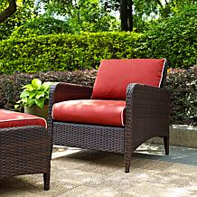 Crosley Kiawah Outdoor Wicker Arm Chair - Sangria