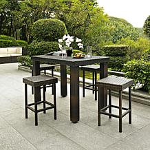 Crosley Palm Harbor 5pc Outdoor Wicker High Dining Set
