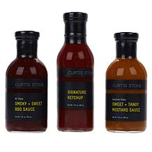 Curtis Stone BBQ Sauces & Seasoning 3-piece Collection