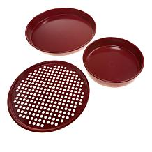 Curtis Stone Dura-Bake® 3-piece Pizza Pan Set