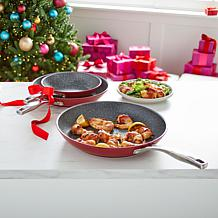 Curtis Stone  Dura-Pan Nonstick 3-piece Frypan Set in Gift Boxes