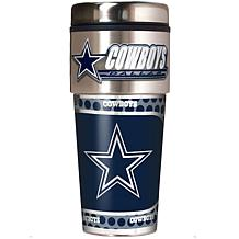Dallas Cowboys Travel Tumbler w/ Metallic Graphics and Team Logo