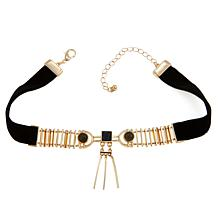 "Danielle Nicole ""Rohe"" Drop Bar 12"" Choker Necklace"