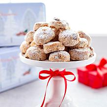 David's Cookies (2) 1lb Pecan Meltaways w/Holiday Tins - Rec. by 11/15
