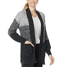 Democracy Cozy Heathered Sweater Knit Cardigan