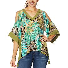 Democracy East/West Tassel Top