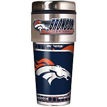 Denver Broncos Travel Tumbler w/ Metallic Graphics and Team Logo