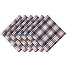 Design Imports Autumn Farmhouse Plaid Cloth Napkins Set of 6