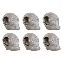 Design Imports Silver Skull Napkin Ring Set of 6