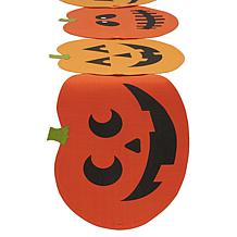 Design Imports Spooky Jack O' Lantern Table Runner and Placemats