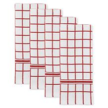 Design Imports Windowpane Terry Kitchen Towel 4-Pack