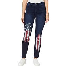DG2 by Diane Gilman Classic Stretch American Flag Skinny Jean