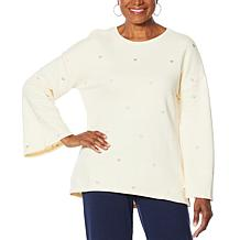 "DG2 by Diane Gilman ""DG Downtime"" Embroidered Heart Sweatshirt"