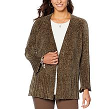 DG2 by Diane Gilman Heathered Chenille Cardigan