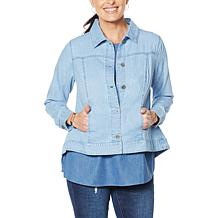 DG2 by Diane Gilman SoftCell Denim Jacket