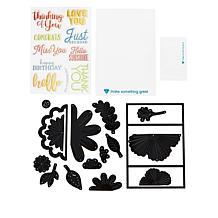 Diamond Press 3D Floral Gatefold Stamp and Die Kit