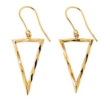 Dieci 10K Yellow Gold Electroform Triangle Dangle Earrings