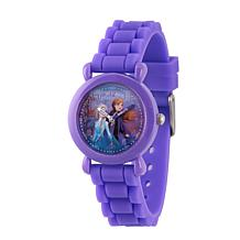 Disney Frozen 2 Elsa and Anna Kids' Purple Time Teacher Watch