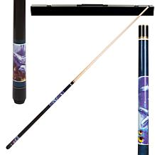 Dolphin Hardwood 2-piece Pool Cue with Case