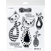 Dyan Reaveley's Dylusions Cling Stamp Collections 8.5X7 - Puddy Cat