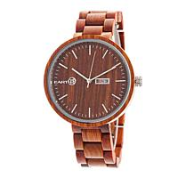 "Earth Wood Goods ""Mimosa"" Red Wood Bracelet Watch"