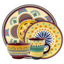 Elama Puesta De Sol 16pc Service for 4 Dinnerware Set