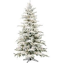 Flocked Mountain Pine 7-1/2' Christmas Tree