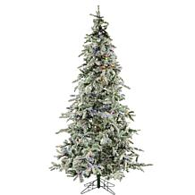 Fraser Hill Farms 7-1/2' Flocked Mountain Pine Tree - Multicolor