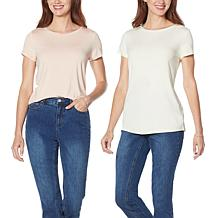 G by Giuliana 2-pack EcoLuxe Jersey Soft Tees