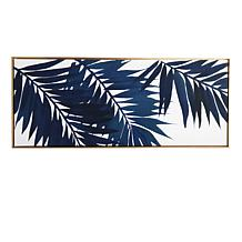 """Gallery 57 Blue Palms 19"""" x 45"""" Floating Canvas"""
