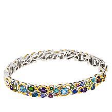 Gems by Michael Sterling Silver Carnival Multigemstone Hinged Bracelet