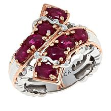 Gems by Michael Sterling Silver Ruby Bypass Ring