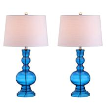 "Genie 28.5"" Glass LED Table Lamp Set of 2 by JONATHAN Y"