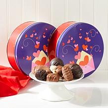 Giannios 1 lb. Love Letter Tins with Chocolates - 2-pack