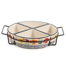 Gibson Home Central Station 4-Section Tidbit Dish