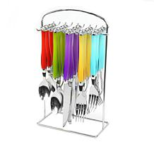Gibson Home Santoro 20pc Stainless Steel Flatware Set with Hanging ...